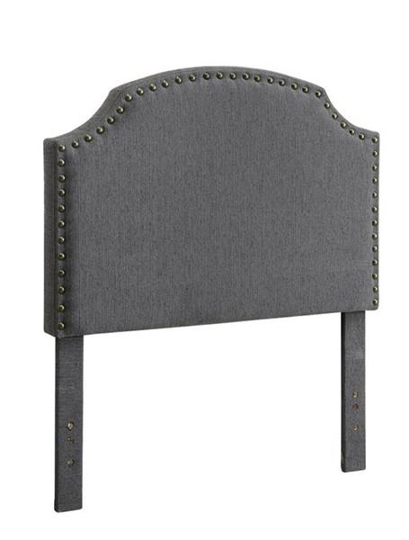 HomeRoots Gray Polyester Gray Full Headboard