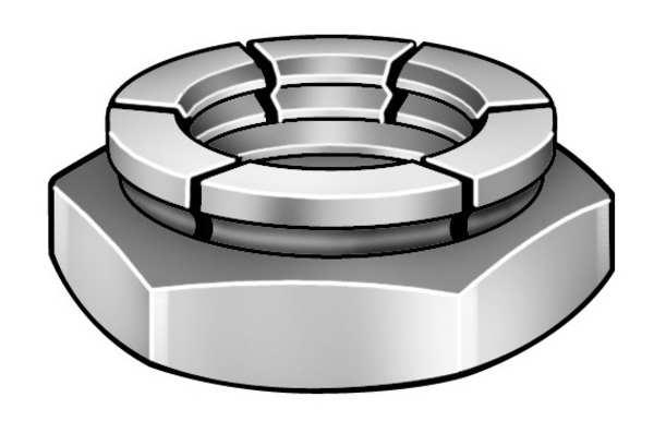 """FLEXLOC 3/8""""-16 Cadmium Finish Carbon Steel Top Lock Nut, 100 pk."""