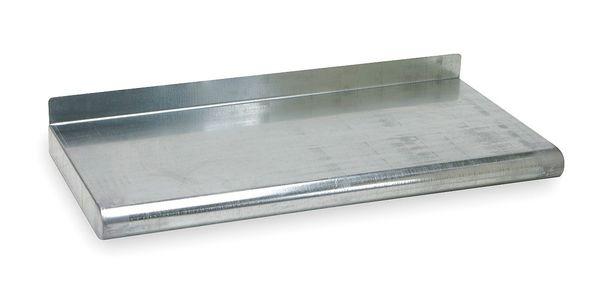 """ZORO SELECT Steel Wall Shelf, 12""""D x 60""""W x 11-1/2""""H, Silver"""