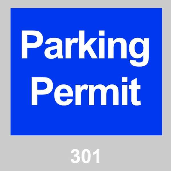 BRADY Parking Permits, Windshield, Blue, PK100