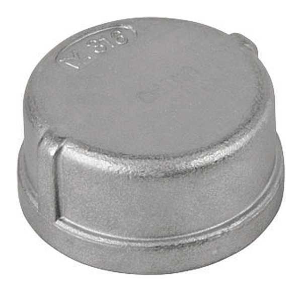 CALBRITE Conduit Cap, Thread, 2in, 1-3/16inL, 316 SS