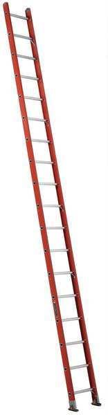 LOUISVILLE Straight Ladder, 18 ft. , 300 lb., Fiberglass