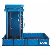 DQE, INC. Decontamination Shower, Single, 43x46x88