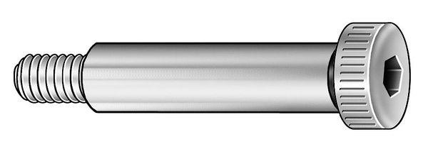 "ZORO SELECT Shoulder Screw, 1/2""X5/8"", 3/8-16, PK25"