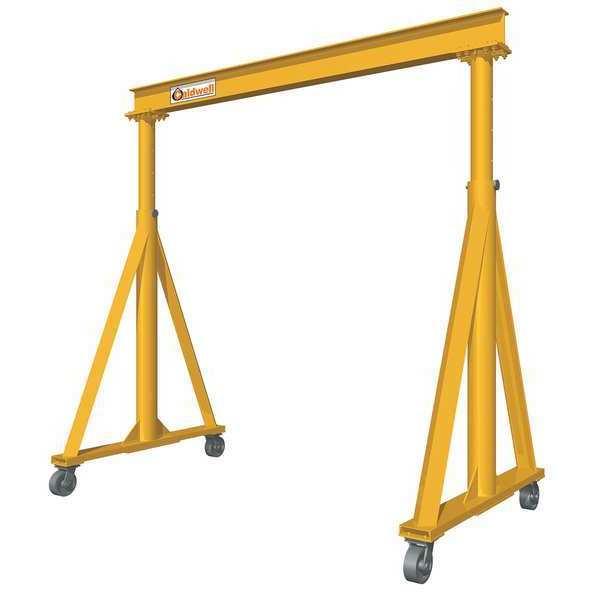 "CALDWELL Portable Gantry Crane, 8000 lb., 18 ft. 6"""