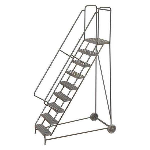 "TRI-ARC 9 Steps, 90"" H Aluminum Wheelbarrow Ladder, 350 lb. Load Capacity"