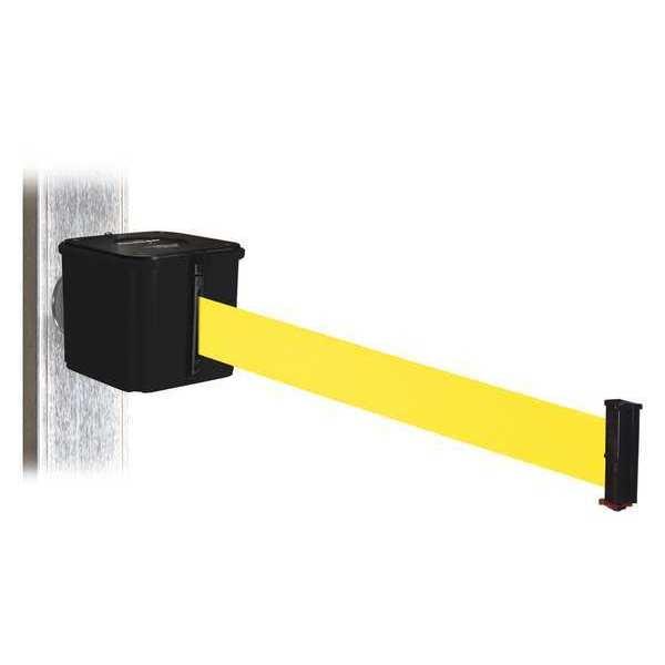 RETRACTA-BELT Belt Barrier, Blk, Magnet, Ylw Belt, 30ft. L