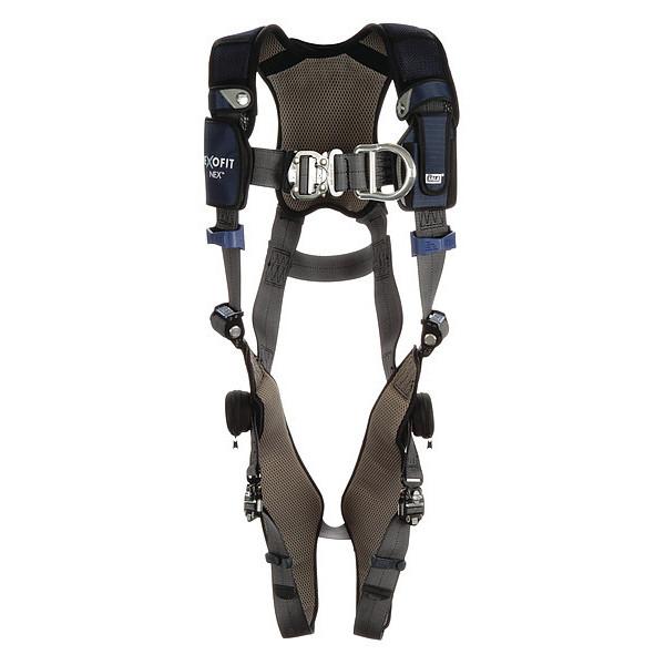 3M DBI-SALA Vest-Style Climbing Harness, L, Gray