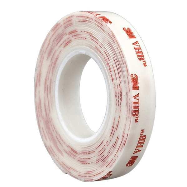 "3M 3M 4930 VHB Tape 4"" circle, White, 25 mil, 100PK"