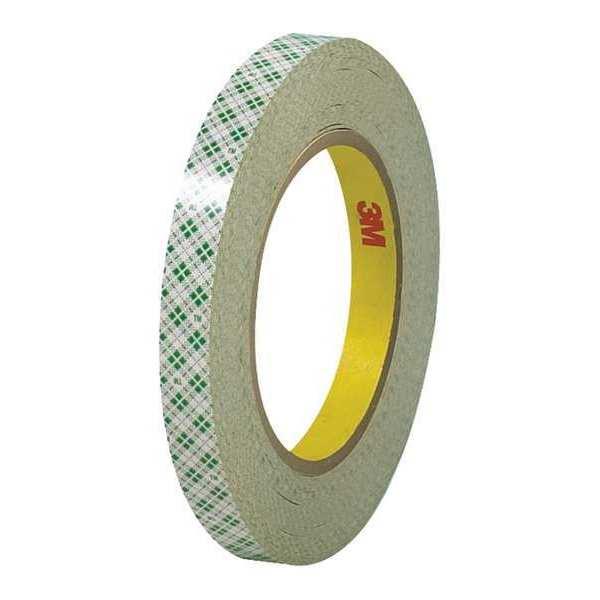 3M Dbl Side Masking Tape, 6.0 Mil, 1/2x36 yds., Off-Wht, PK72