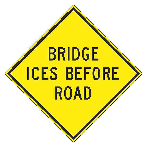 NMC Bridge Ices Before Road Sign