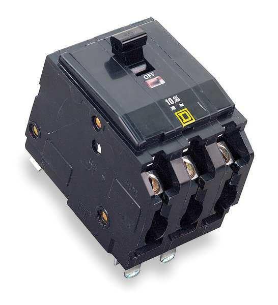 SQUARE D 3P Shunt Trip Plug In Circuit Breaker 30A 240VAC