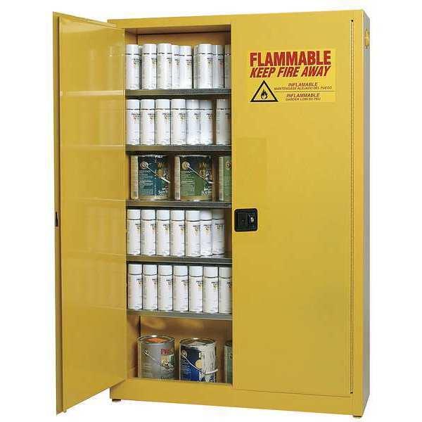 EAGLE Aerosols Cabinet, 30 gal., Yellow