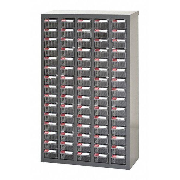 SHUTER 75-Bin Parts Cabinet, Steel