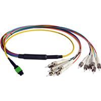 Camplex 3 MTP Elite APC Male to 12 ST UPC Duplex Singlemode Cable, Yellow