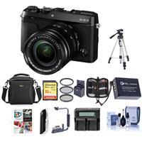 Fujifilm X-E3 Mirrorless Camera w/XF 18-55mm f/2.8-4 Black W/Premium ACC Bundle